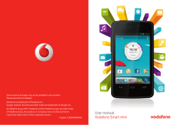 User manual Vodafone Smart mini