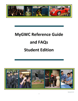MyGWC Reference Guide - Golden West College