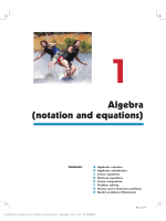 Algebra (notation and equations) - Haese Mathematics