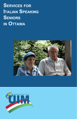 SERVICES FOR ITALIAN SPEAKING SENIORS IN OTTAWA - Ital Uil