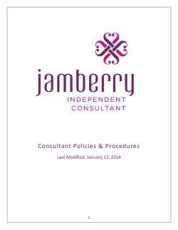 Consultant Policies Procedures - Jamberry
