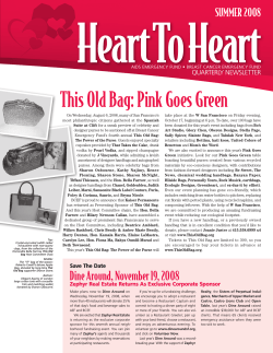 This Old Bag: Pink Goes Green - AIDS Emergency Fund