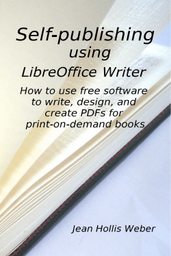 Self-Publishing with OOo3 Writer - Taming LibreOffice