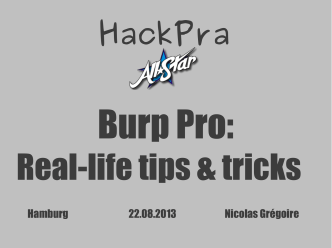Burp Pro Tips and Tricks - owasp