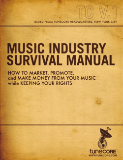 Music Industry Survival Manual.pdf - TuneCore