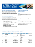 Telstra Australia Direct® Reverse Charge access number