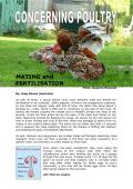 Mating and Fertilization - Aviculture Europe