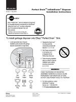 To install garbage disposer onto Elkay® Perfect Drain™ Sink: