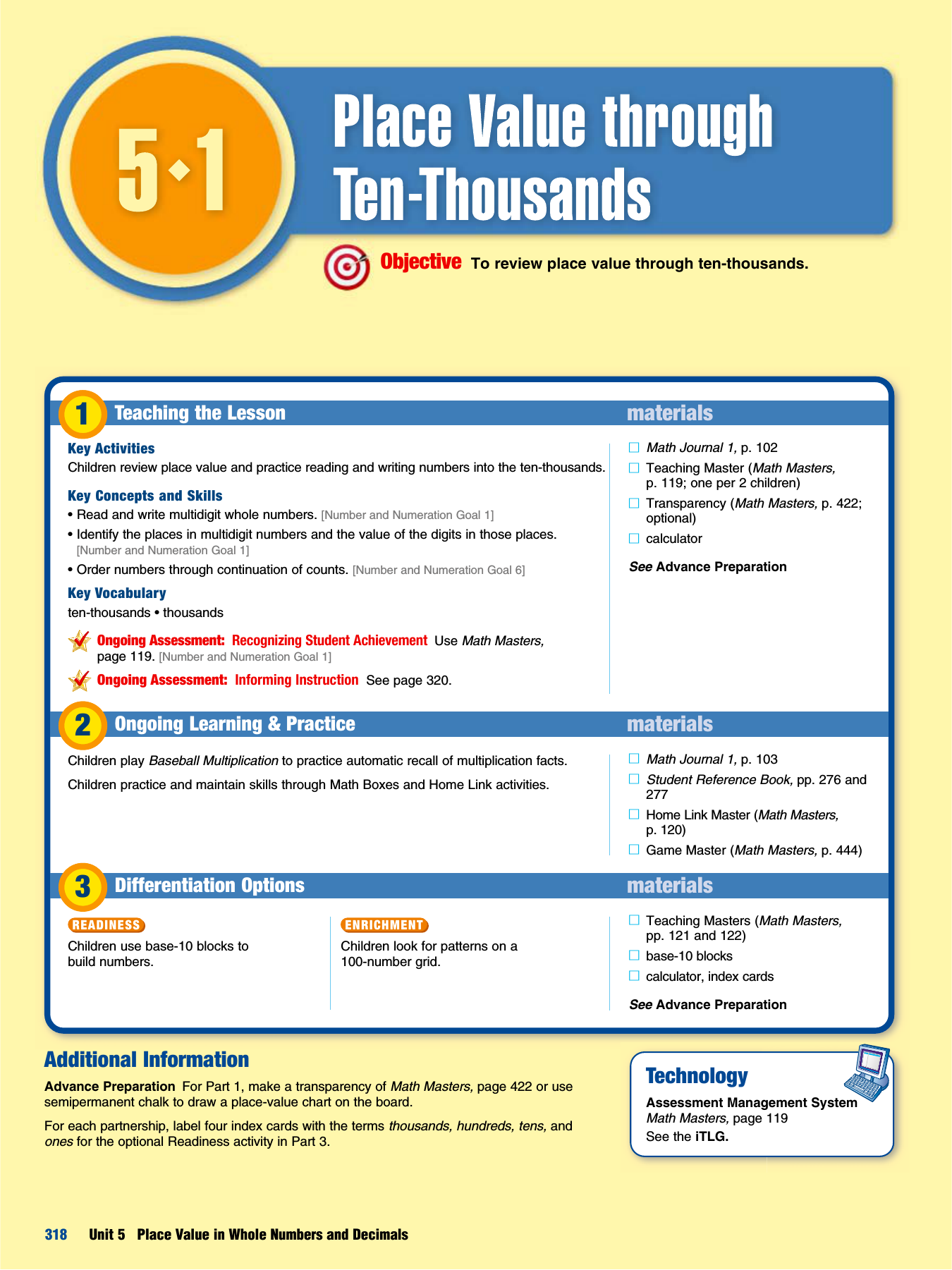 Lesson 51 Place Value Through Ten Thousands