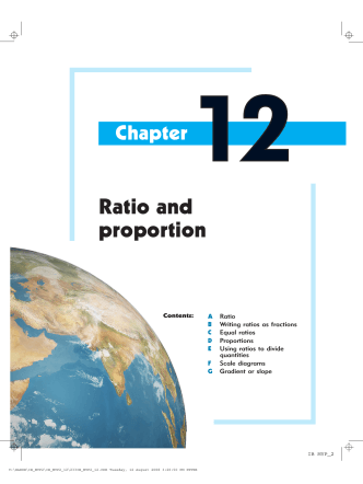 12. Ratio and proportion - Haese Mathematics