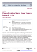Topic B: Measuring Weight and Liquid Volume in Metric Units (6