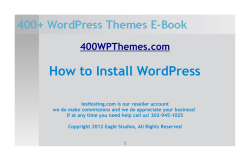 How to install WordPress Download