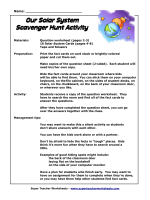 Our Solar System Scavenger Hunt Activity - Super Teacher