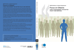 Focus on Citizens – Public engagement for Better Policy and Services