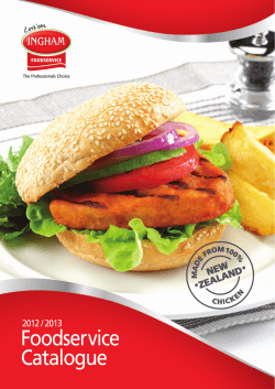 Foodservice Catalogue - Inghams Enterprises NZ