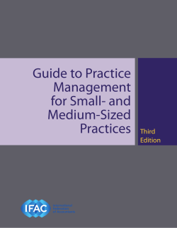 Guide to Practice Management for Small- and Medium-Sized - IFAC