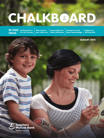 Chalkboard Newsletter - Teachers Mutual Bank