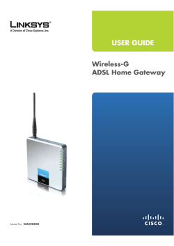 Linksys WAG200G Manual