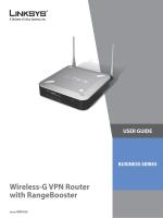 Cisco WRV200 Wireless-G VPN Router with RangeBooster