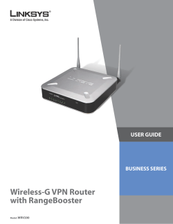 Cisco WRV200 Wireless-G VPN Router with RangeBooster