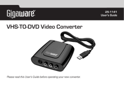 VHS-TO-DVD Video Converter - Radio Shack
