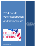 2014 Florida Voter Registration And Voting Guide - Florida Division