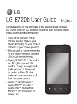 LG-E720b User Guide - CompareCellular.com