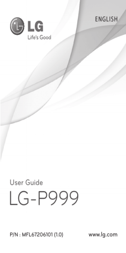 PDF User Guide LG-P999 - LG Electronics
