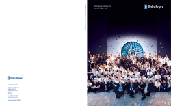 Rolls-Royce Holdings plc Annual Report 2012