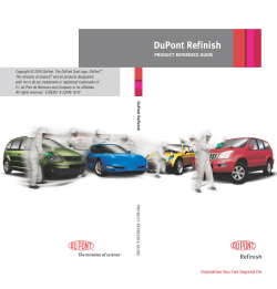 DuPont Refinish Product Reference Guide - DuPont Performance