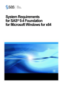 System Requirements--SAS 9.4 Foundation for Microsoft Windows