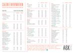 CALORIE INFORMATION - ASK Italian Restaurants