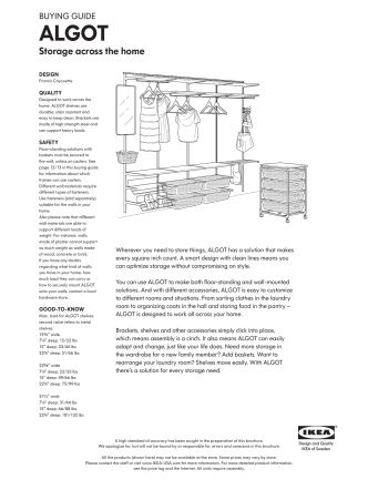 ALGOT buying guide - Ikea