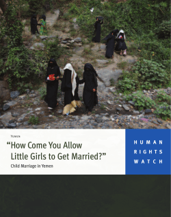 """How Come You Allow Little Girls to Get Married?"" - Human Rights"