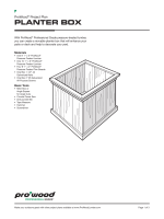 ProWood Project Plan - How to Build a Planter Box - Universal