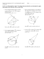 G.G.51: Arcs Determined by Angles 7: Investigate theorems - JMap