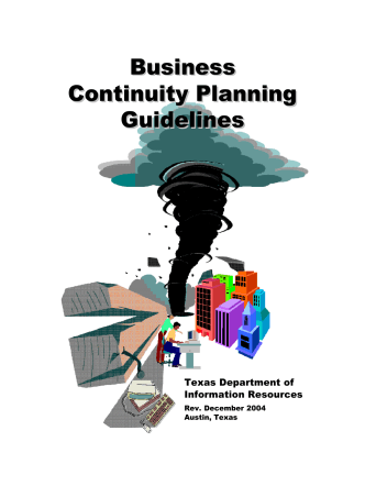 Business Continuity Planning Guidelines Business Continuity