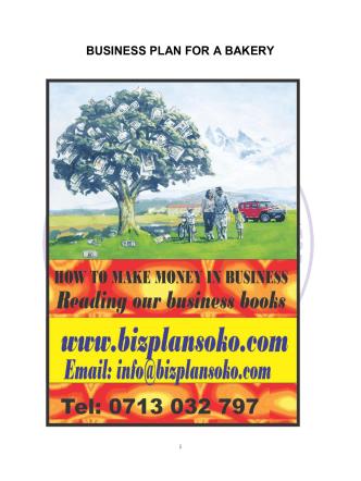 BUSINESS PLAN FOR A BAKERY - Bizplansoko