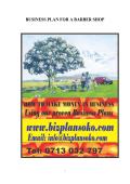 BUSINESS PLAN FOR A BARBER SHOP - Bizplansoko