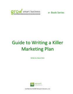 Guide to Writing a Killer Marketing Plan - Nevada Small Business