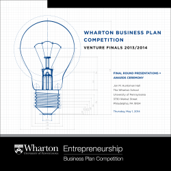 Wharton Business Plan Competition - University of Pennsylvania