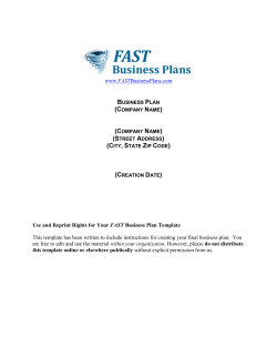 Business Plan Template - Fast Business Plans