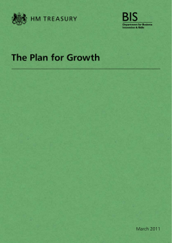 The Plan for Growth