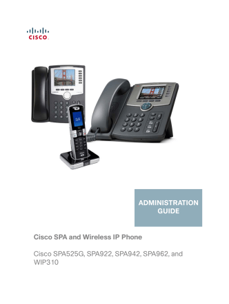 Cisco Small Business Pro SPA and Wireless IP Phone