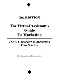 The Virtual Assistants Guide To Marketing - MJVA Associates