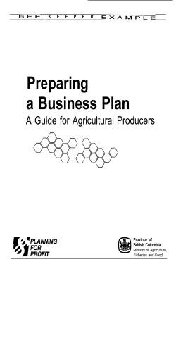 Business Plan: Beekeeper Example - FarmStart