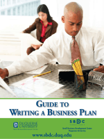 WRITING A BUSINESS PLAN GUIDE TO - Pennsylvania SBDC