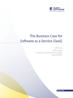 The Business Case for Software as a Service (SaaS) - Quest Software