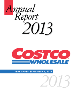 Costco FY 2013 Annual Report - Investor Relations Solutions