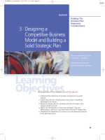 3 Designing a Competitive Business Model and Building a Solid